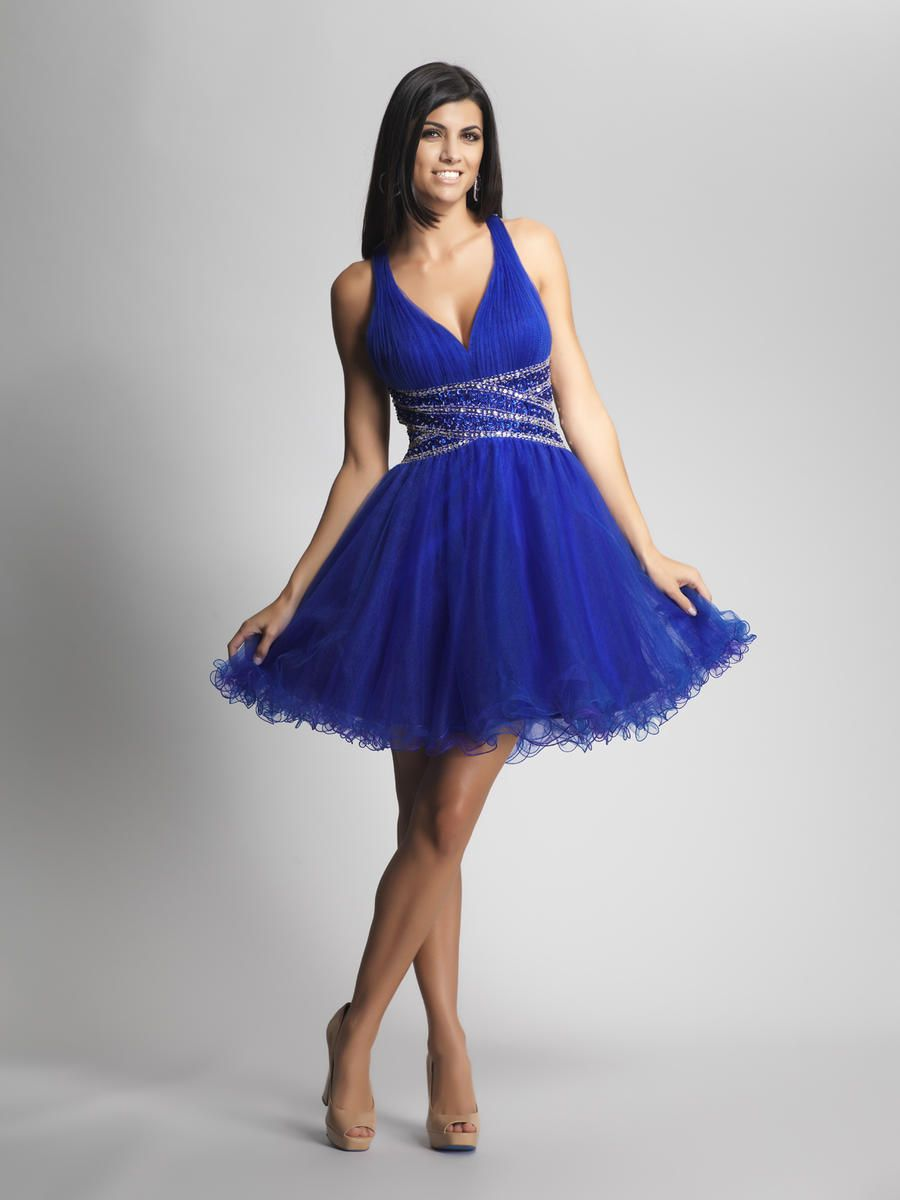 Cross Straps Back Beading Royal Blue Homecoming Dresses ...