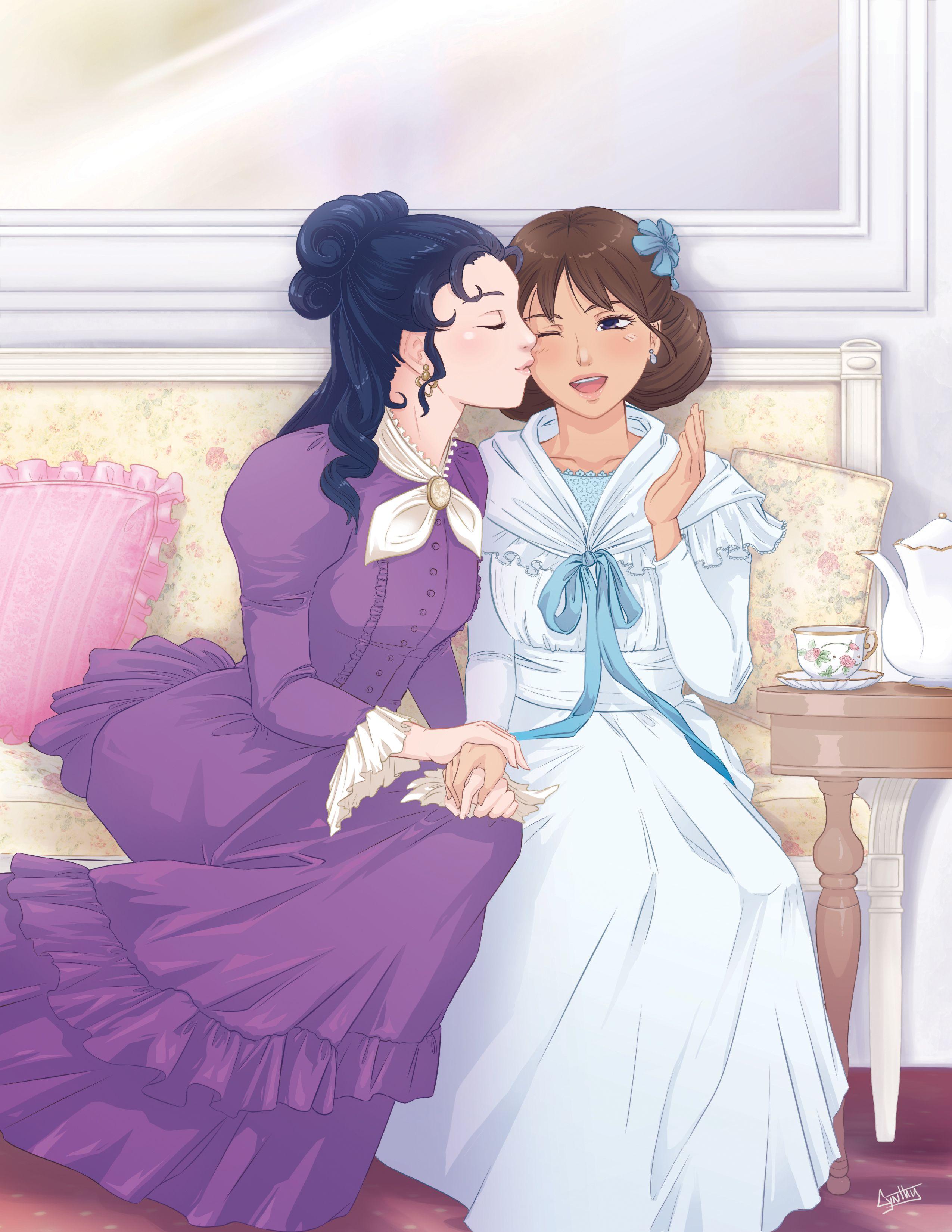 Fanart de l 39 anime princesse sarah repr sentant sarah crewe et becky 10 ans apr s le dernier - Dessin anime de princesse sarah ...