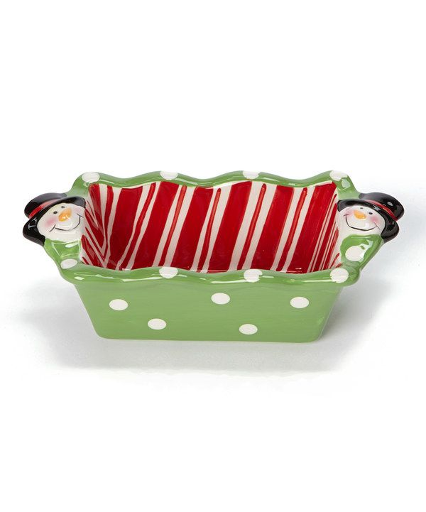 Look at this DEI Candy Stripe Snowman Mini Loaf Pan on #zulily today!