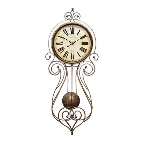 Wrought Iron Regulator Wall Clock Available From Walmart Canada