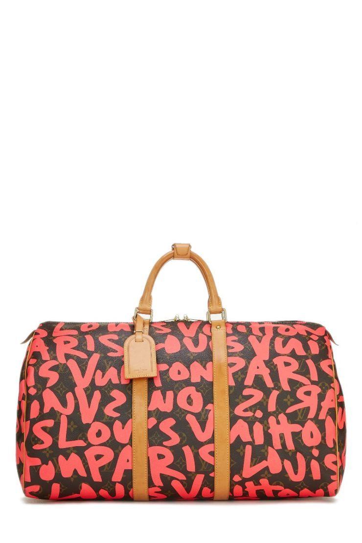 c977d1c8089 Louis Vuitton Stephen Sprouse x Louis Vuitton Monogram Graffiti Keepall 50  - What Goes Around Comes