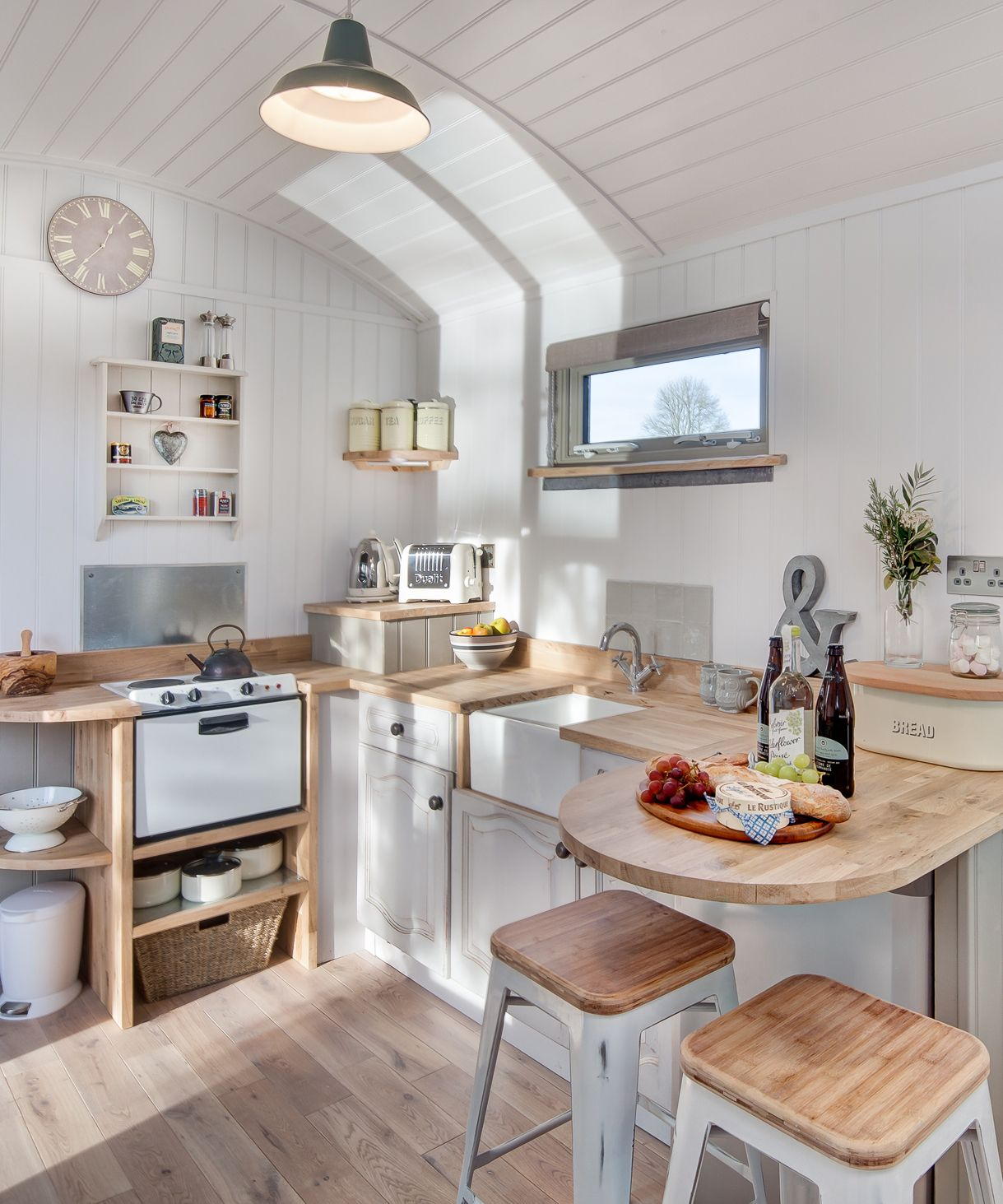 The shepherds hut retreat electric fireplaces refrigerator and oven