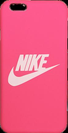 "Nike Hot Pink White ""Swoosh Logo"" Hard Plastic iPhone 6/6s"