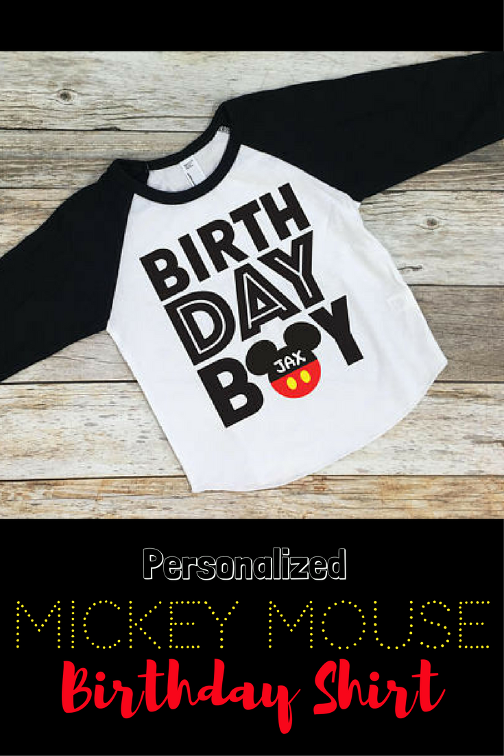 Mickey Mouse Birthday Shirt Boy Disney Disneyland 1st