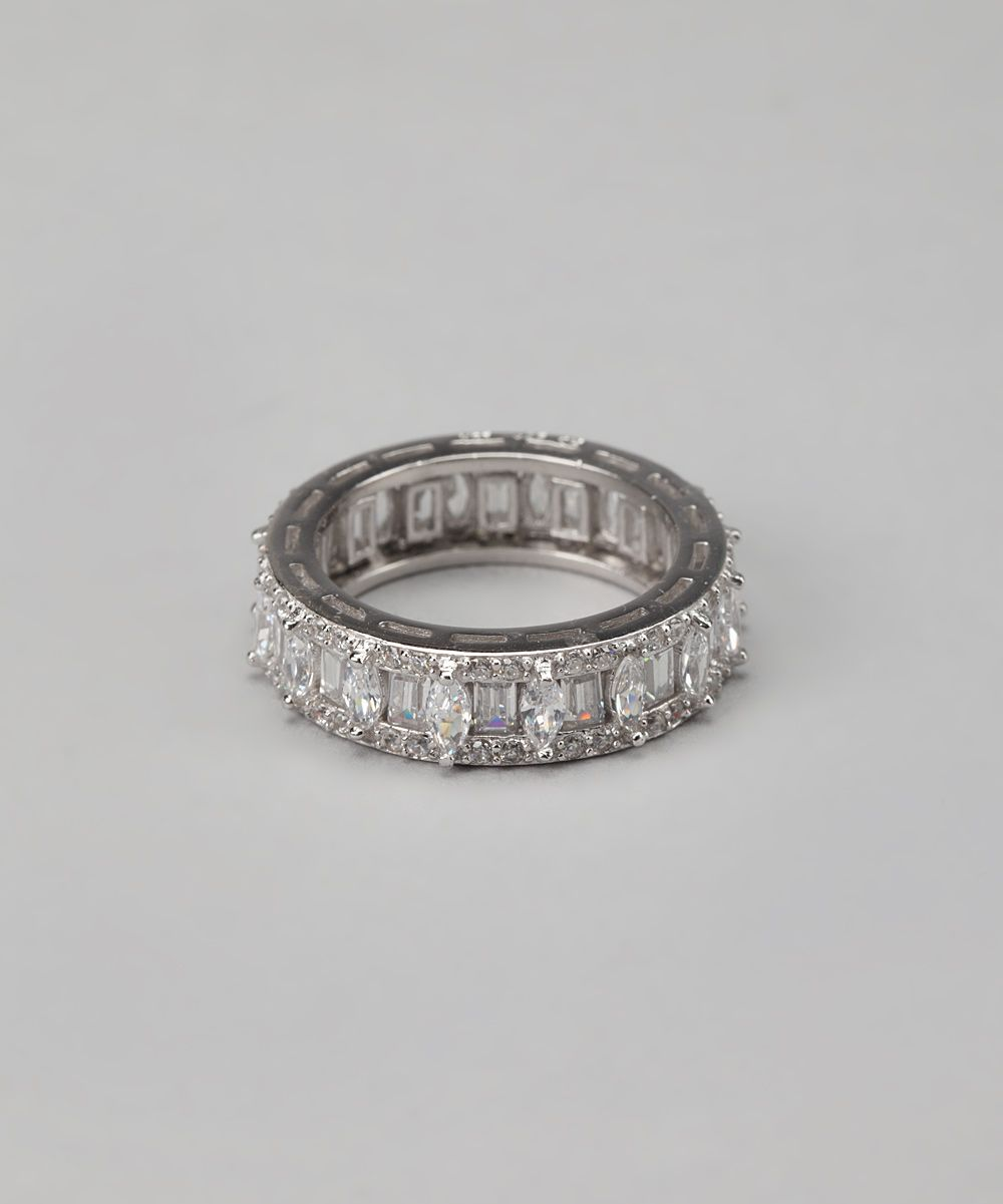 Sterling Silver Sparkle Eternity Ring