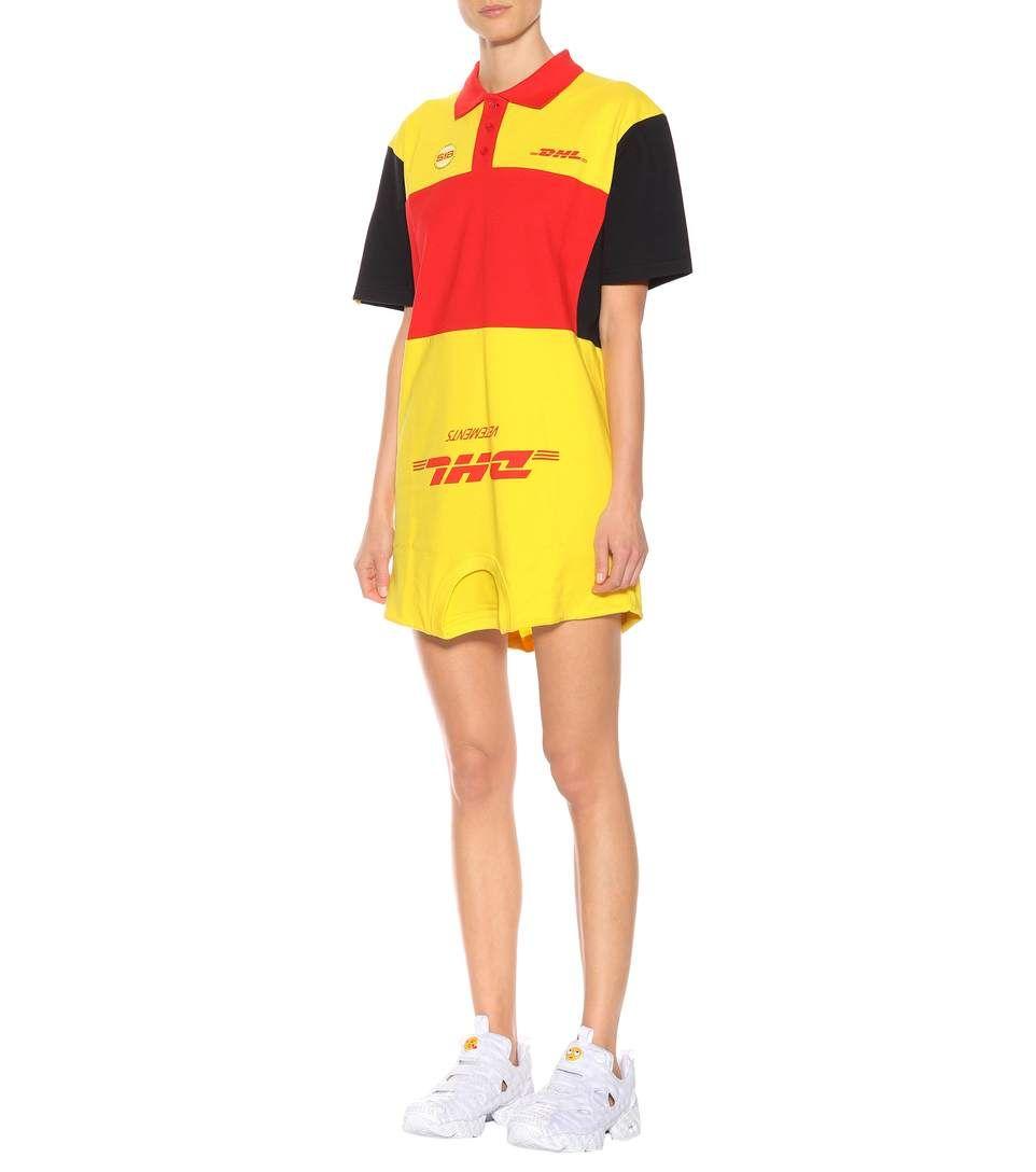 d51b6889f170 Vetements DHL printed cotton shirt dress in 2019 | Beauté & mode ...