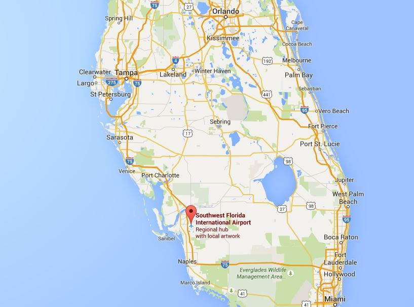 fort myers florida map location