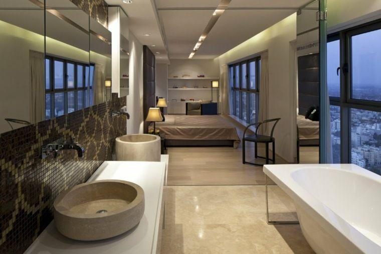 best suite parentale avec salle de bain ouverte contemporary - Salle De Bain Ouverte