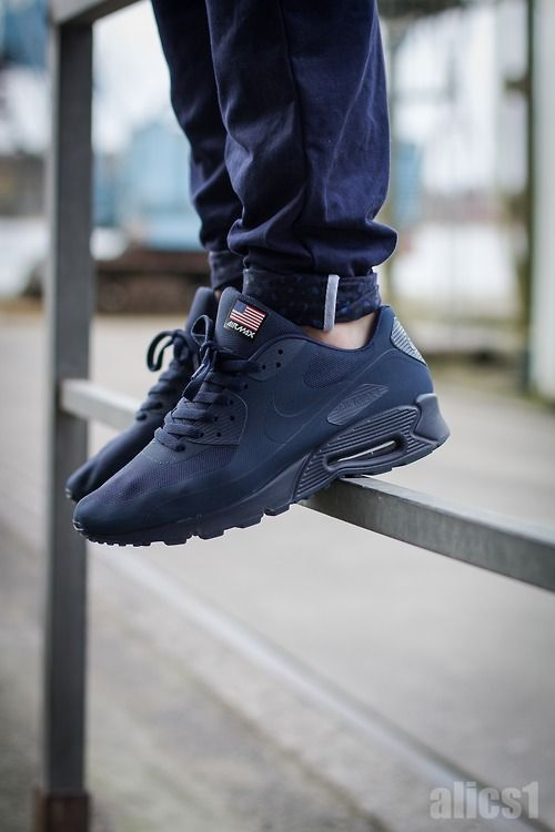 nike air max 90 independence day black