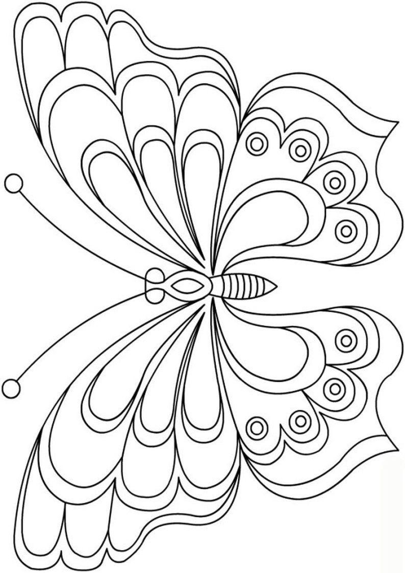 Dla Dziewczyn Kolorowanka Motyle Malowanka Motyl Do Wydruku Numer