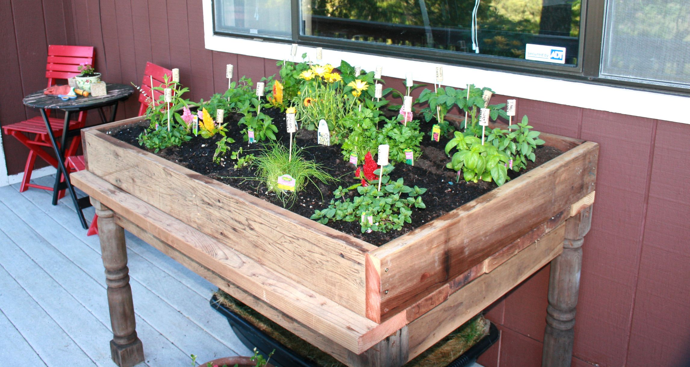 Awesome Picture Of Herb Planter Box Plans: Handmade Herb Garden Box With Your Favorite Herbs