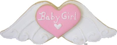 Angel Wings Cookie Cutter. I like this but with out the baby girl for a baptism.