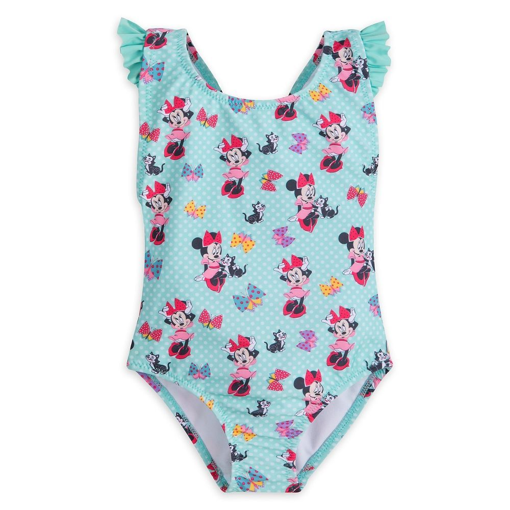 42eab918fd223 Minnie Mouse and Figaro 1 piece Swimsuit for Girls - Size 4 NWT Disney  #Disney #1PieceSwimsuit