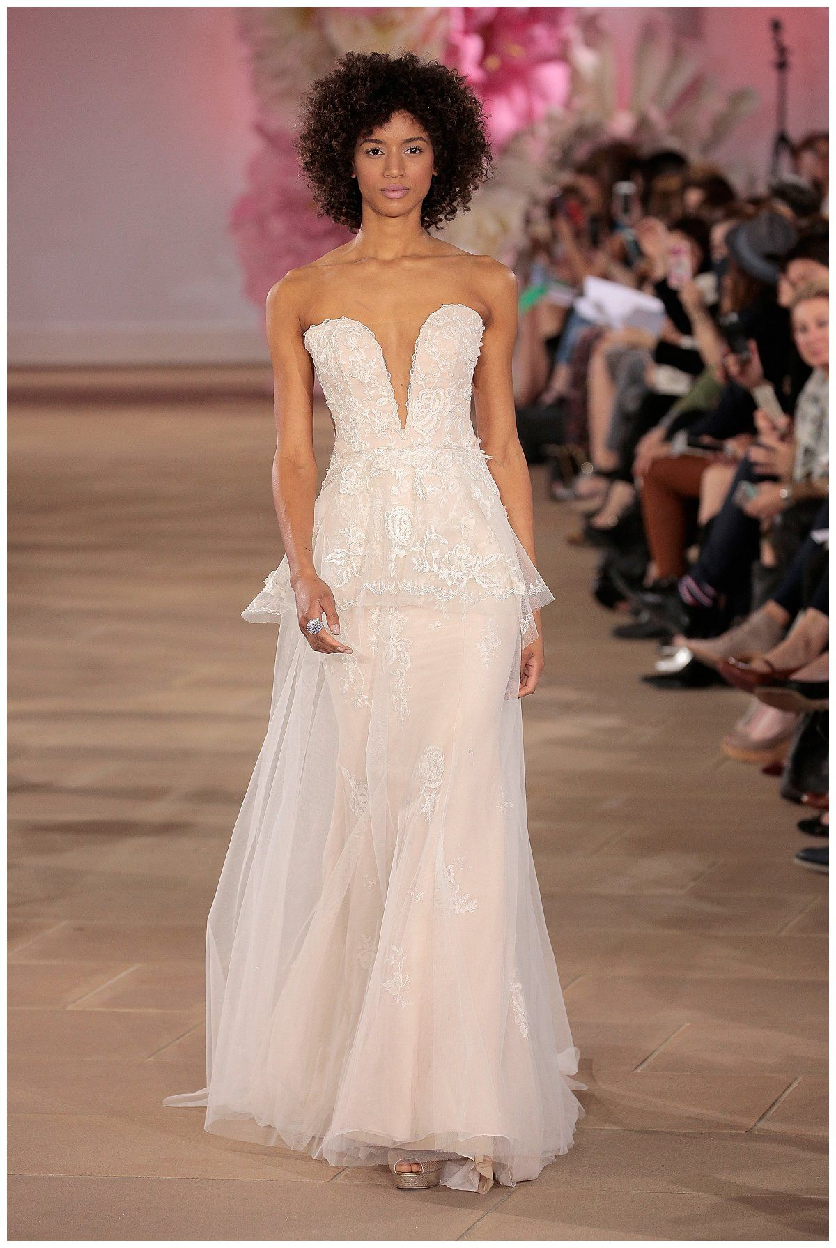 White summer wedding dress  Wedding dress by Ines Di Santo from the SpringSummer