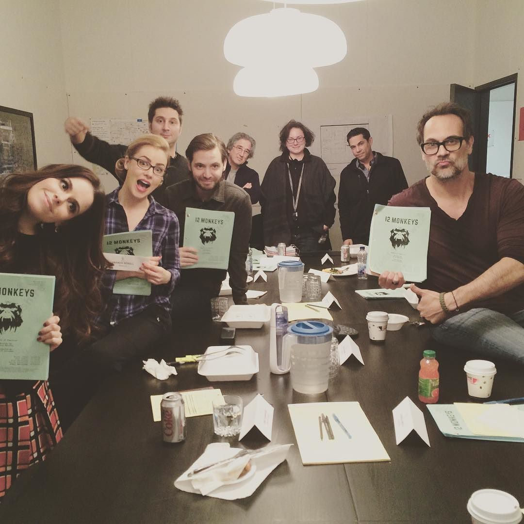 Holy monkey macaroni! This was our final table read for season 2 of #12monkeys ! It is gonna be a doozy!