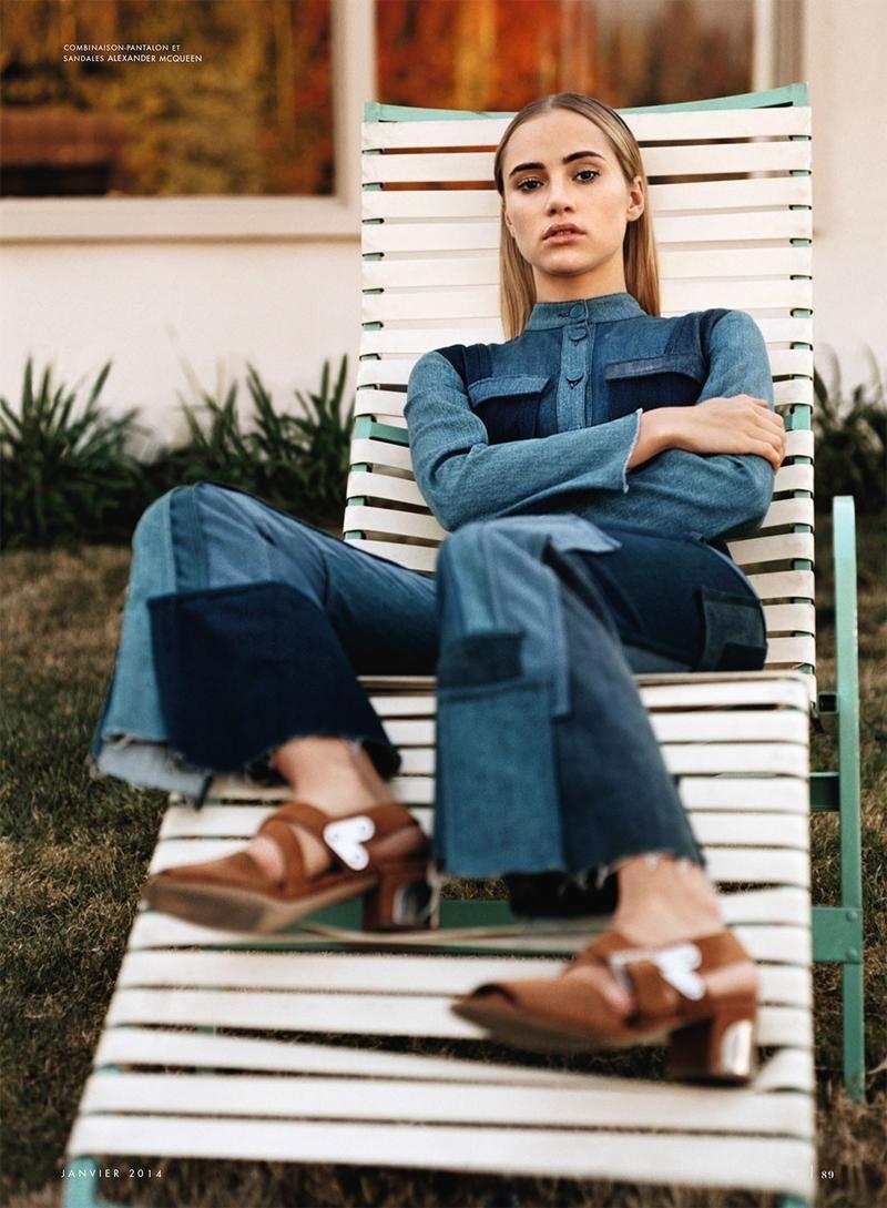 La Piste Aux Etoiles Vanity Fair France Fashion Denim Editorial Style