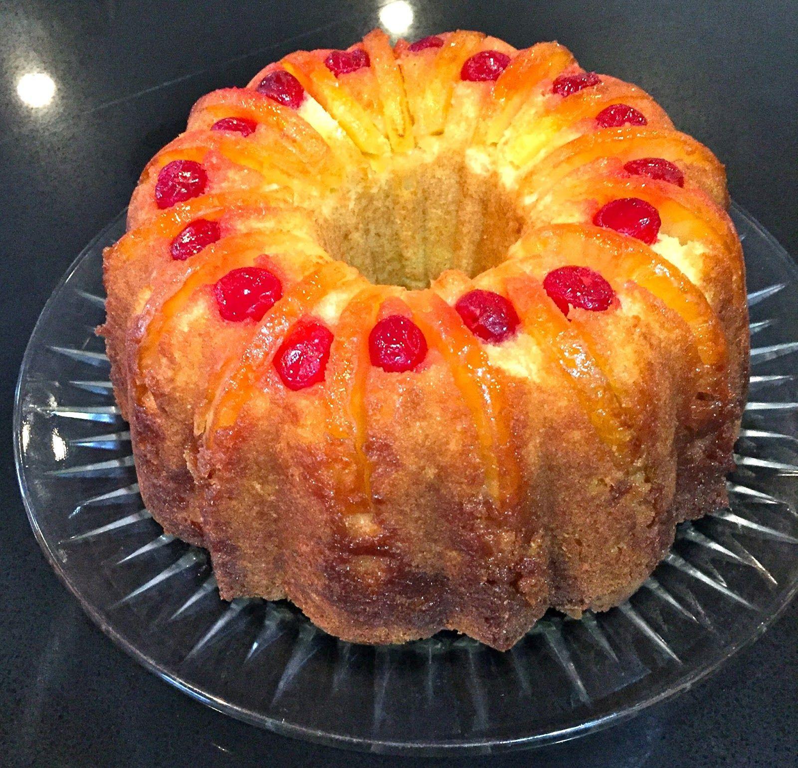 Bundt Cake Recipes From Scratch: My Mother's Apron Strings: Upside-Down Pineapple Bundt