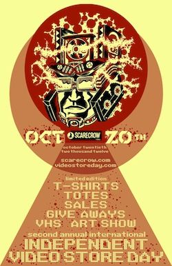 Celebrate Independent Video Store Day at Scarecrow this Saturday {10/20}!