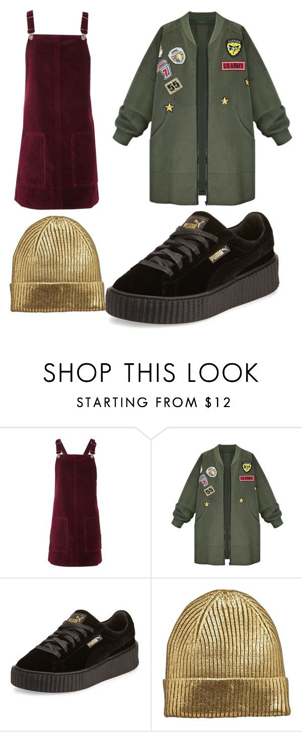 """#perfect puffed jacket"" by ji-bez ❤ liked on Polyvore featuring Topshop, WithChic and Puma"