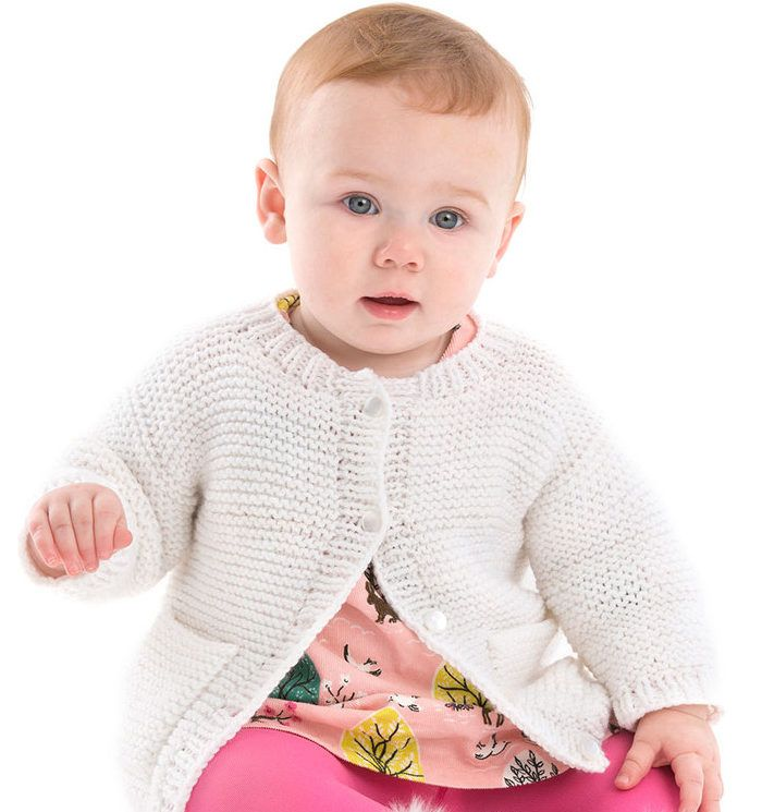 Free Knitting Pattern for Year-Round Baby Cardigan - This easy ...