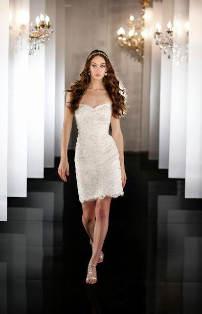 Hermosos Vestidos de Novia Cortos para Boda Civil  c89932562835