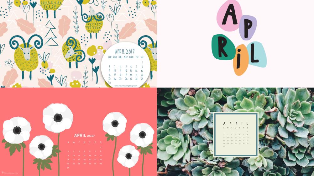 20 April 2017 Computer And Phone Calendar Wallpapers On Blazersandbluejeans