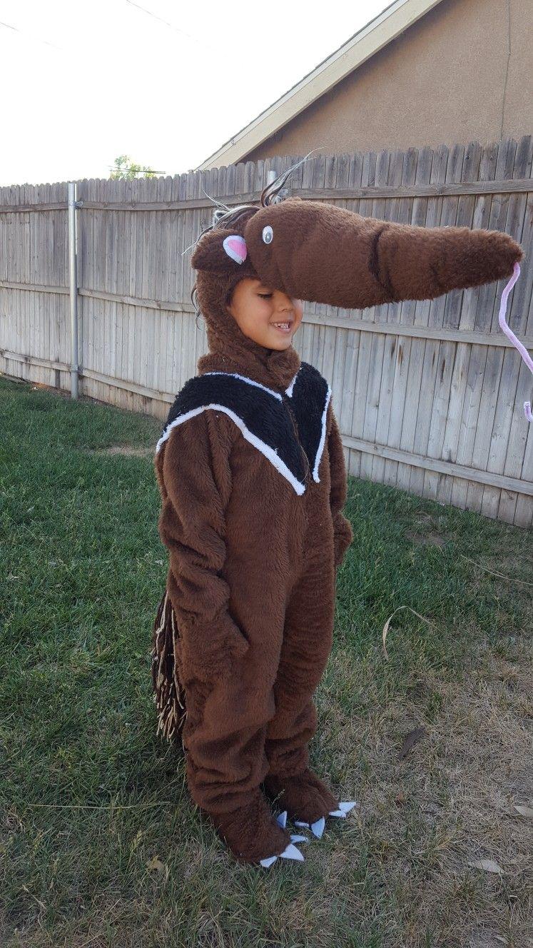 Anteater costume Disfraz de oso hormiguero usando un patron para ...