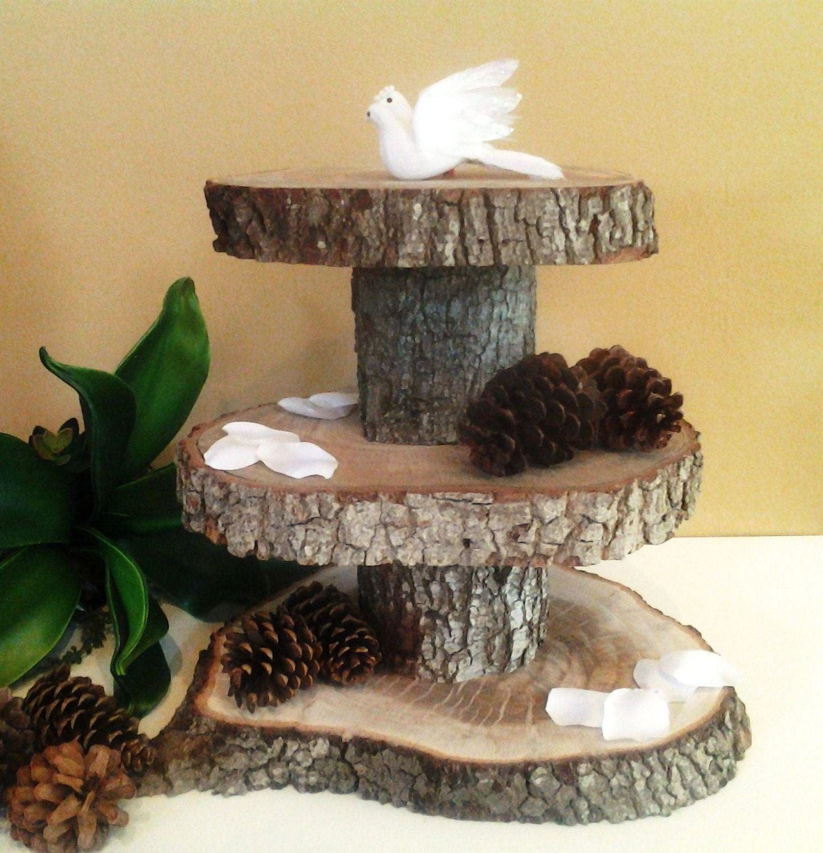 Rustic Wedding Cupcake Ideas: Rustic Wedding Oak Tree Trunk