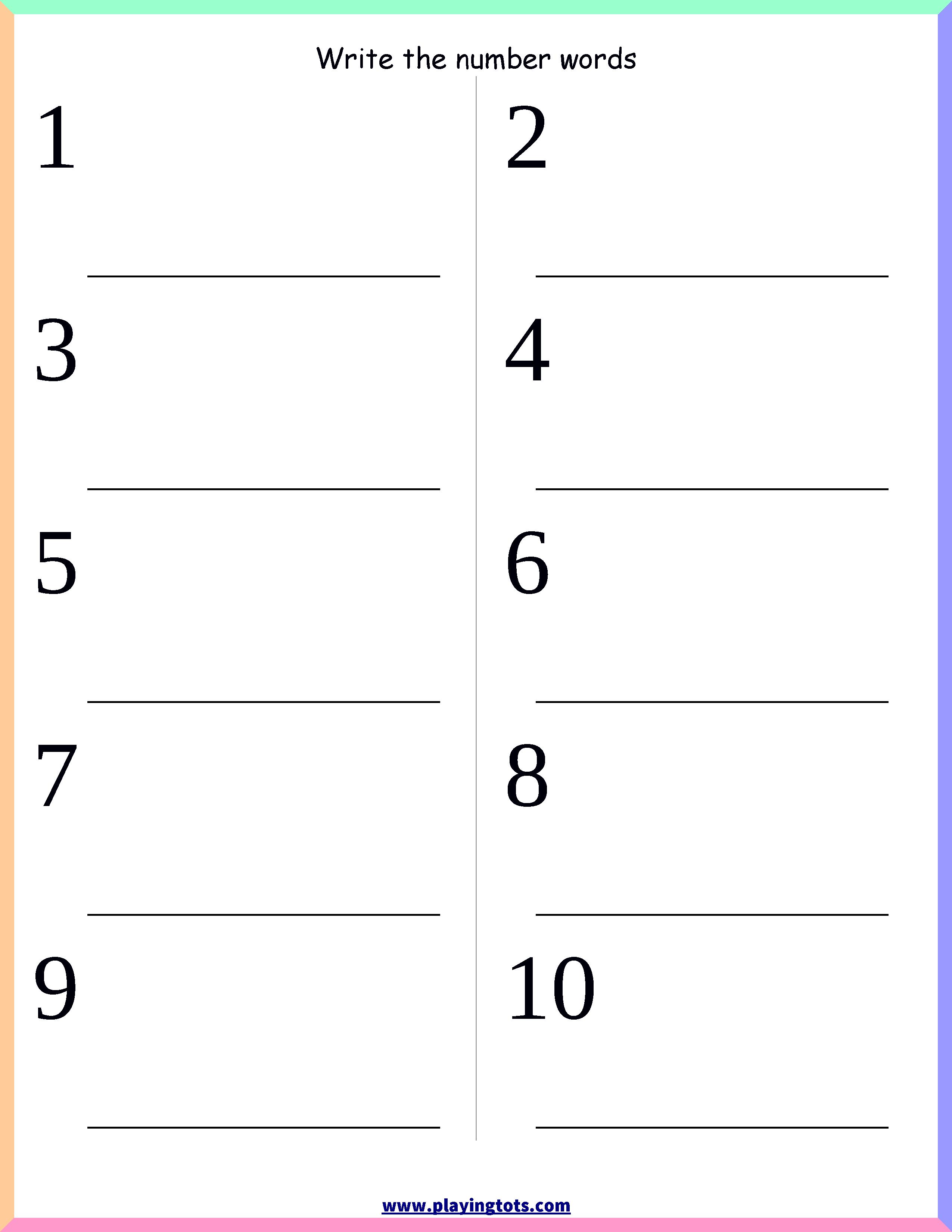 Lkg Maths Worksheets Free Printable Lkg Worksheets Free Printable Number Words Worksheets Number Words Kindergarten Math Worksheets Free