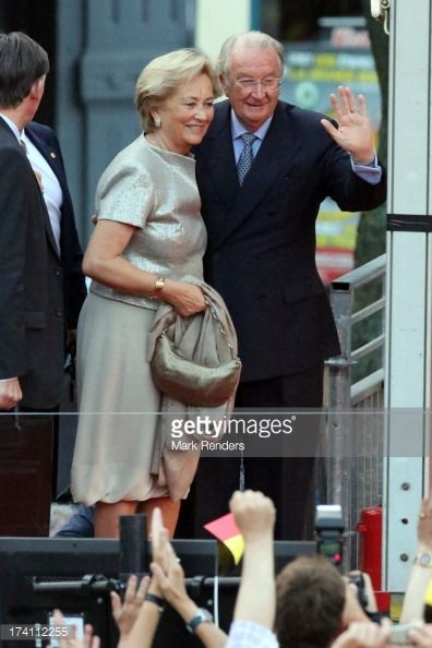 Queen Paola and King Albert II of Belgium attend the 'Bal National' Held Ahead Of Belgium Abdication & Coronation on July 20, 2013 in Brussels, Belgium.