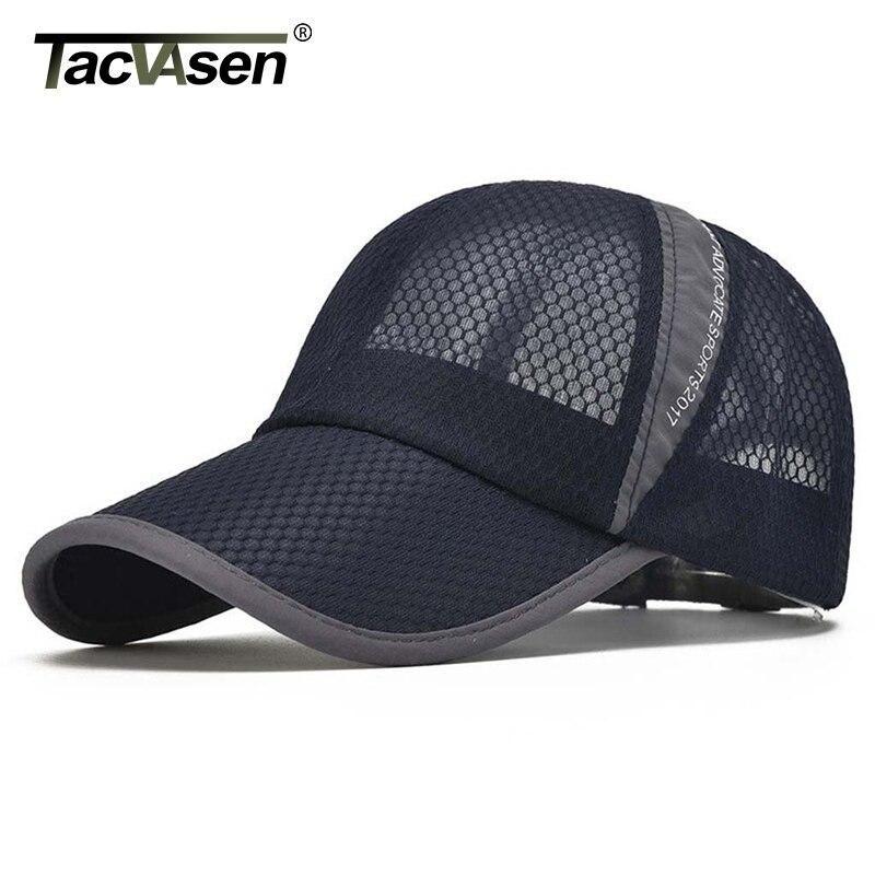 Tacvasen Unisex Cap Summer Breathable Mesh Baseball Sun Protection