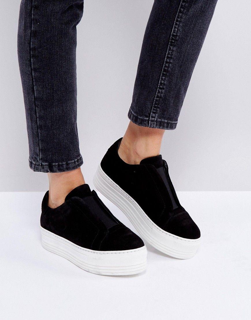 a82bcc2ed32b AllSaints Chunky Flatform Sneakers - Black