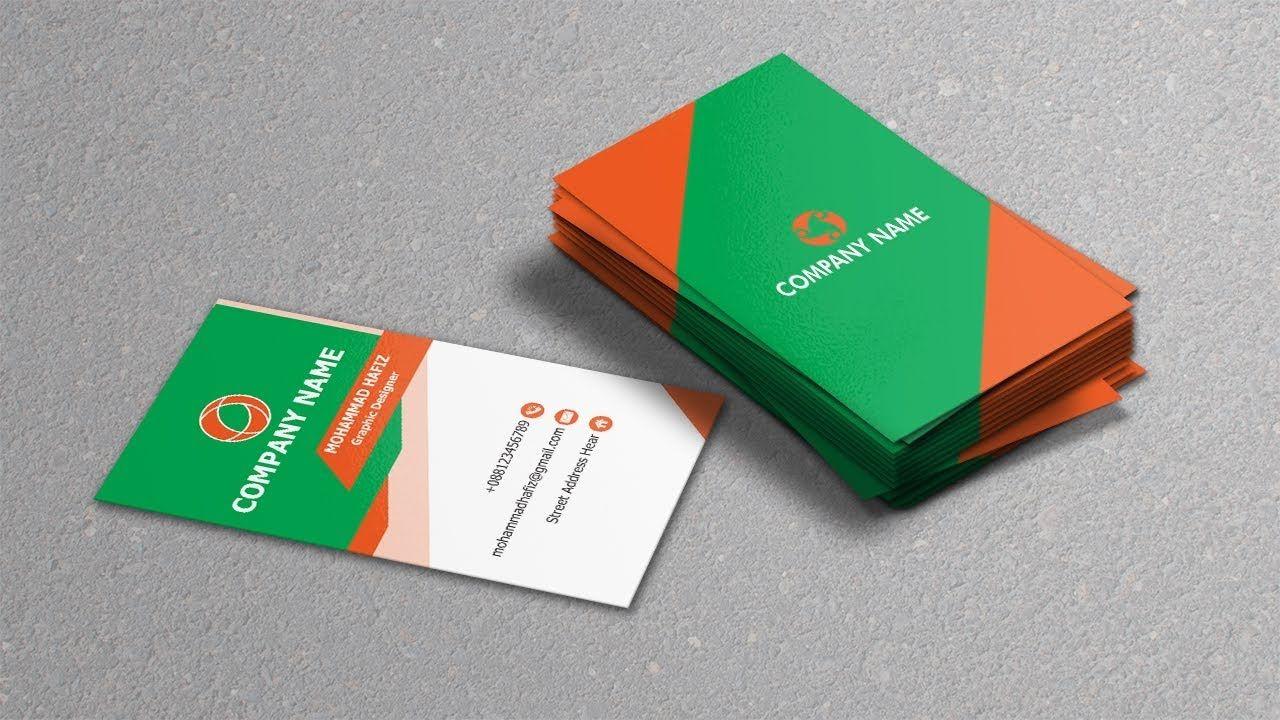 Vertical Business Card Design In Illustrator Adobe Illustrator Cc Tuto Business Card Design Vertical Business Cards Personal Business Cards