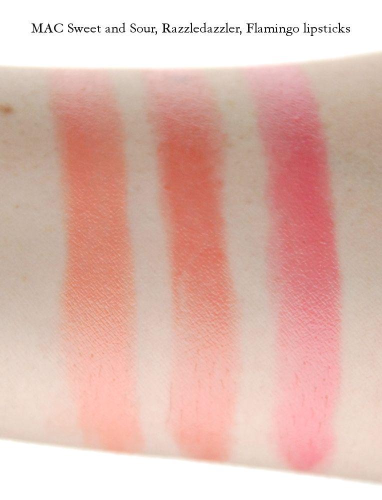 MAC Sweet and Sour Razzledazzler Flamingo lipstick