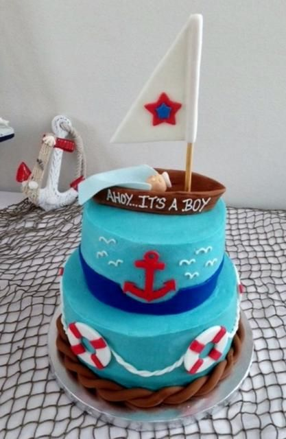 baby shower nautical theme cakes showers baby cakes cake baby baby