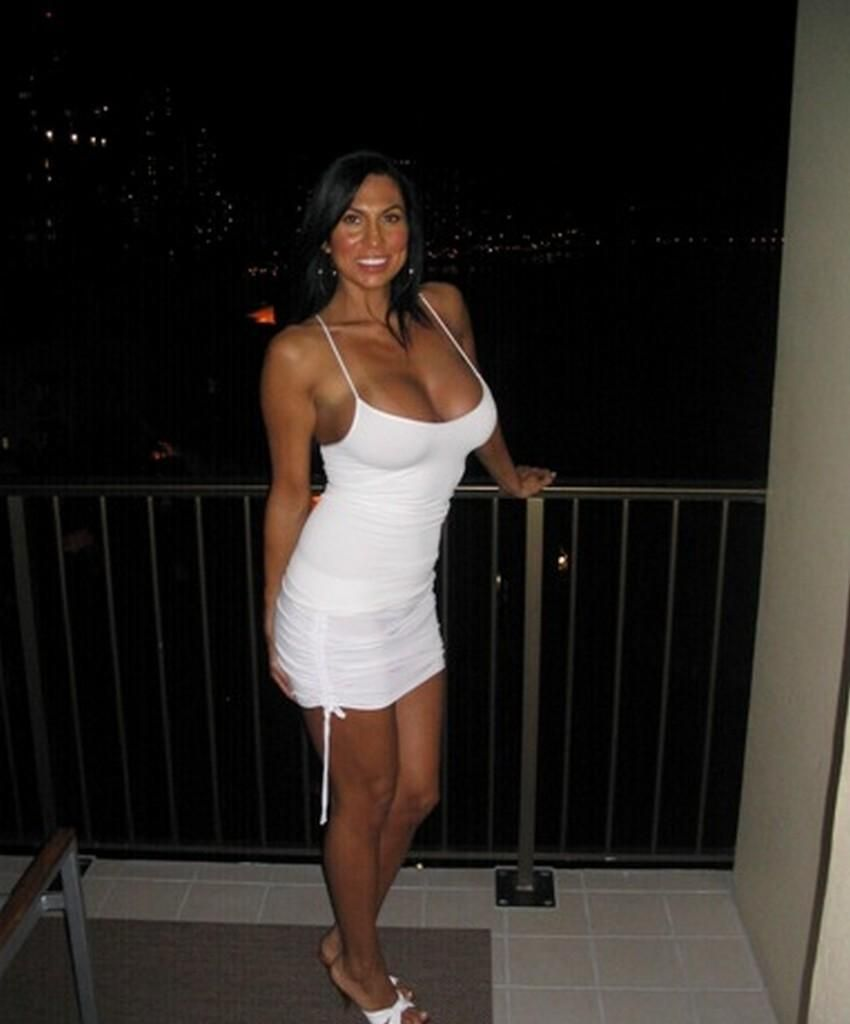 cute mature amateur milf in a white dress | nice body, women wear
