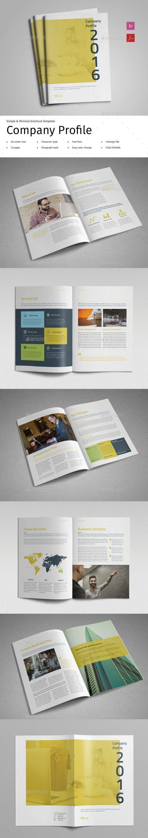Company Profile Vol.2   Company profile, Brochure template and ...