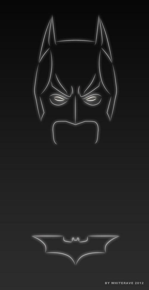 Superhero Neon Wall Lights : Illustrator Creates Neon Light Superheroes - DesignTAXI.com Art Pinterest Im batman ...