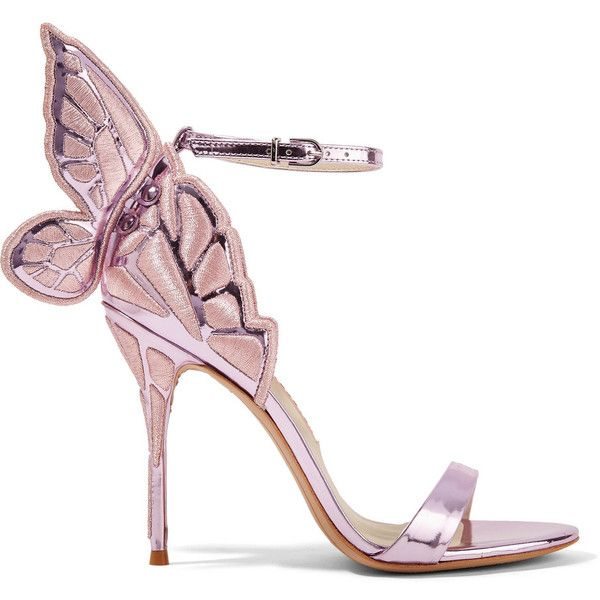 Chiara Embroidered Metallic Leather Sandals - Pink Sophia Webster 1gzMu