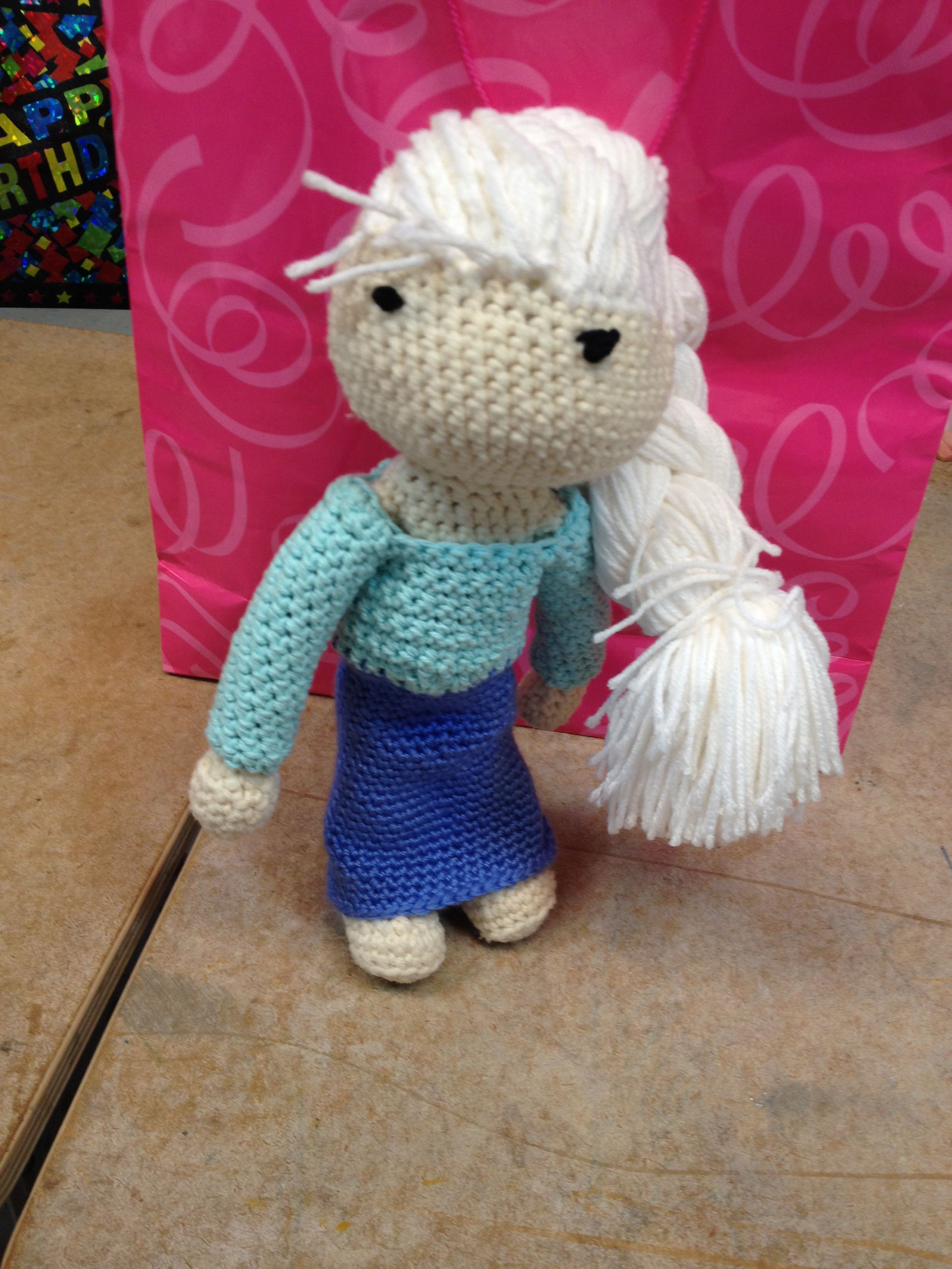 I made this Elsa doll for my niece