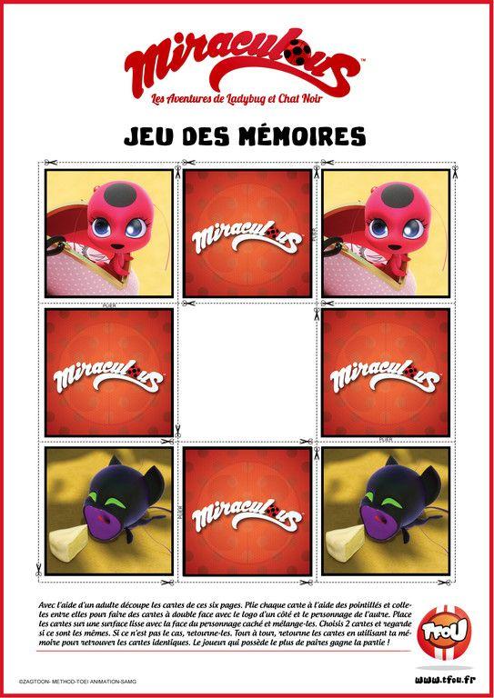 Jeu Des Mémoires Tikki Et Plagg Miraculous Tfou