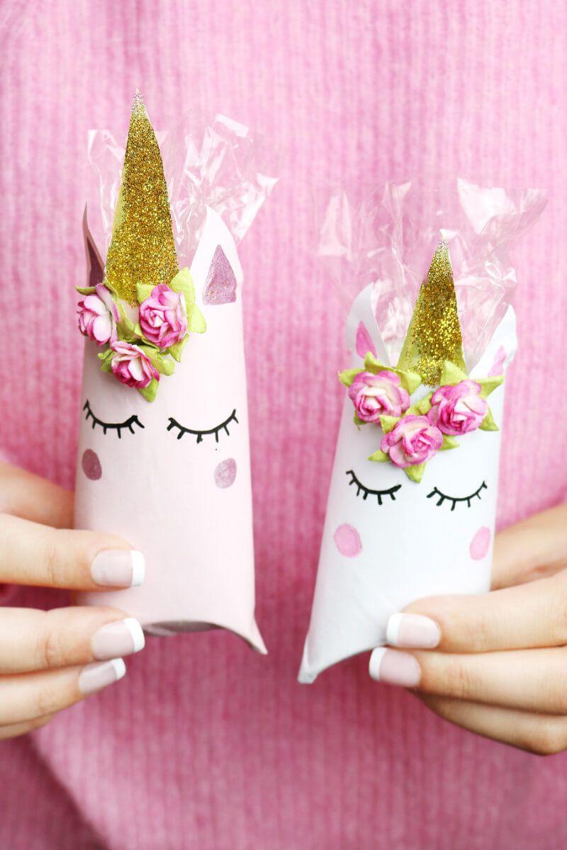 Einhorn schachtel aus klopapierrollen falten diy geschenkverpackung cumplea os pinterest - Einhorn geschenkverpackung ...