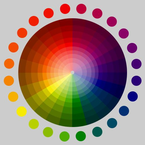 color shade and tint wheel. janet l. ford shallbetter, worqx