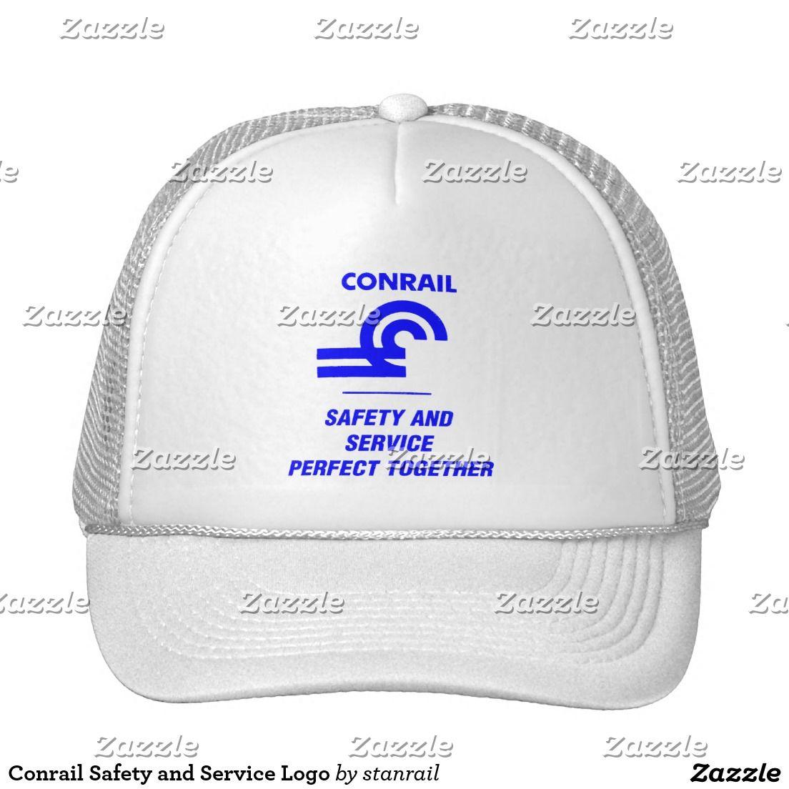 Conrail Safety and Service Logo Trucker Hat; www.railphotoexpress.biz