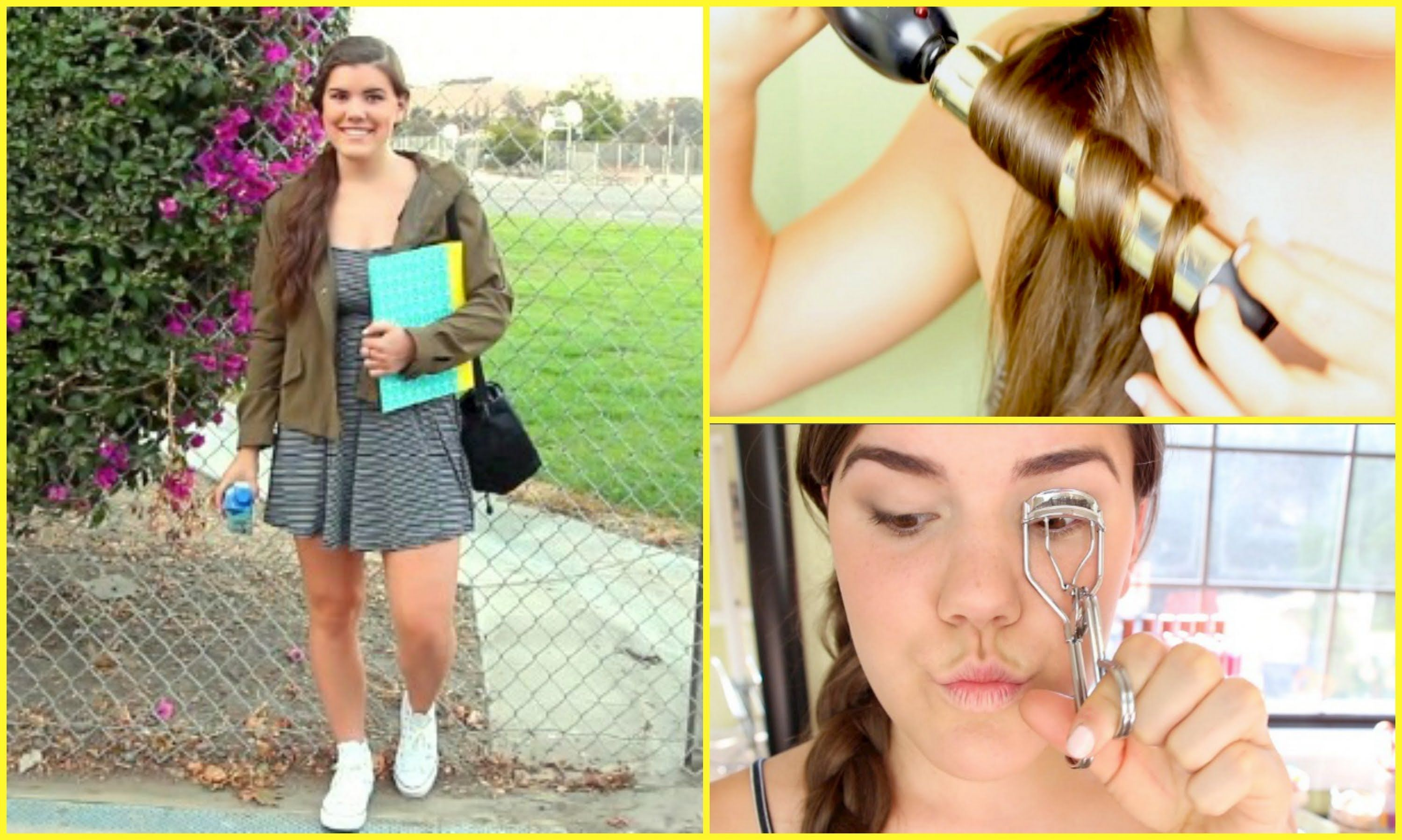 First Day of School Hair, Makeup, & Outfit! by BreeLovesBeauty #firstdayofschoolhairstyles