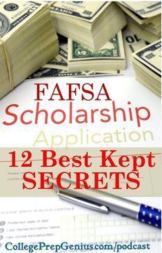 FAFSA 12 Best kept secrets | homeschooling | transcripts | college prep |