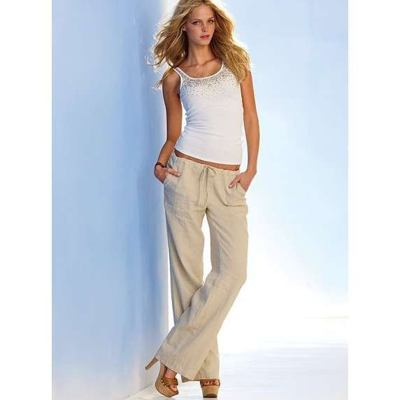 love wearing linen at the beach | The Beach Pant in Linen ...