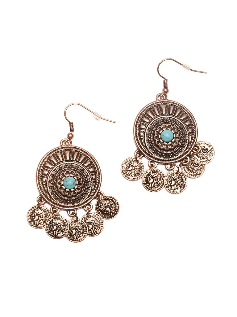 Gypster coin earrings unique wedding jewelry coin