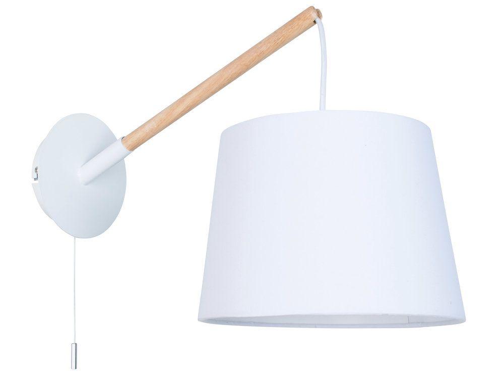 Applique Murale En Metal Et Bois Avec Interrupteur Tirette Hauteur 28cm Scandi Home Decor Wall Lights Lamp