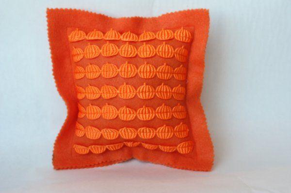 pumpkin ribbon pillow